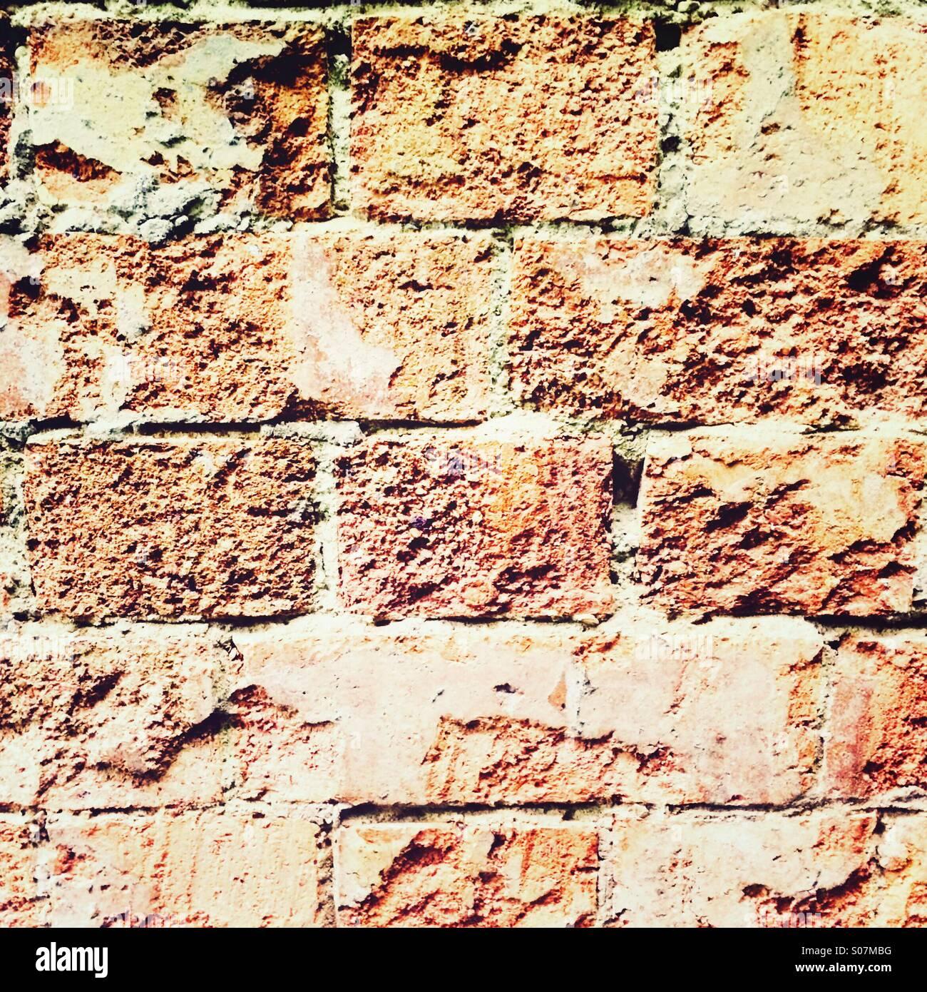 Roten Backsteinmauer Stockbild