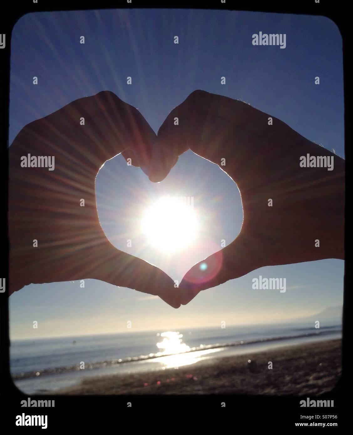 Sonnige Liebe Stockbild