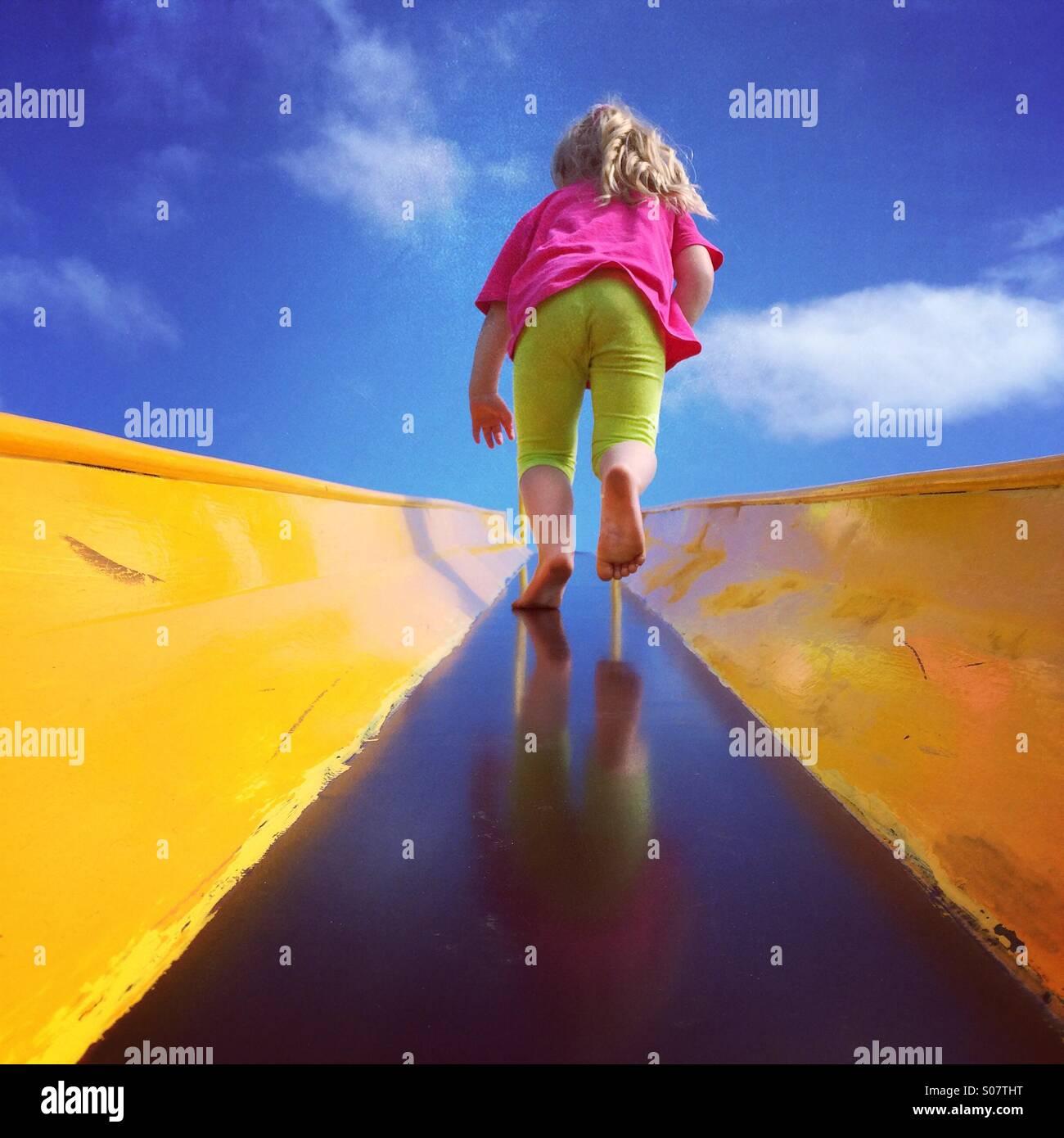 Spielen im park Stockbild