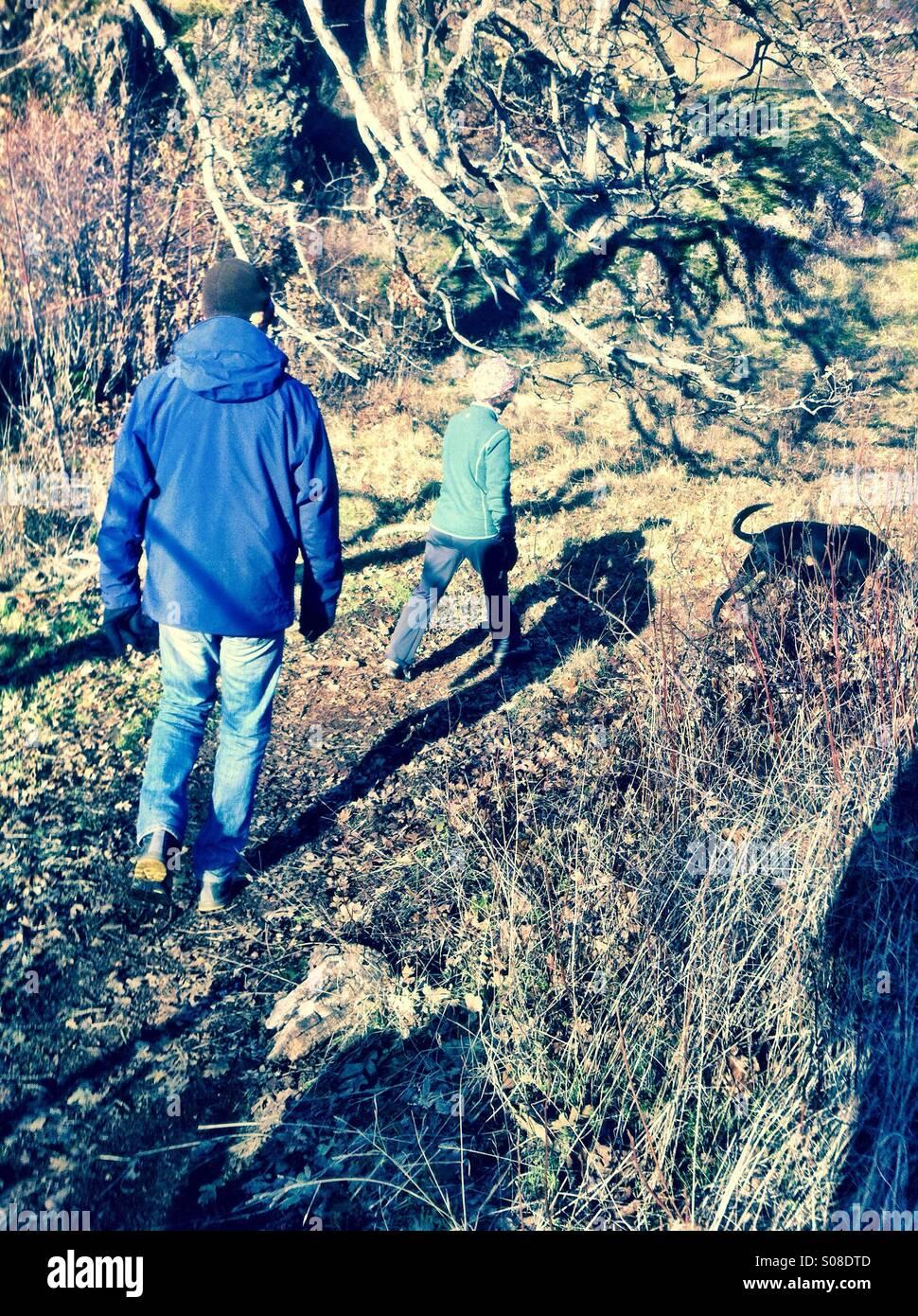 Paar auf einer Wanderung Stockbild