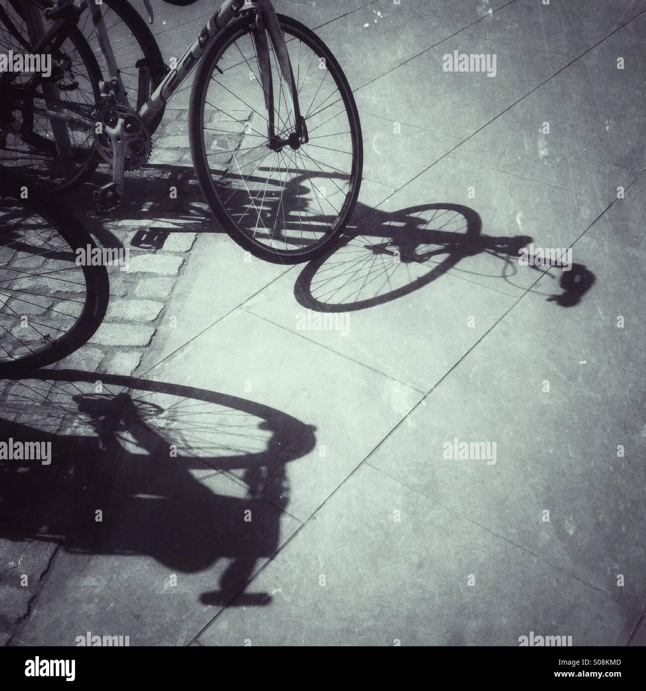 Fahrrad-Silhouetten Stockbild