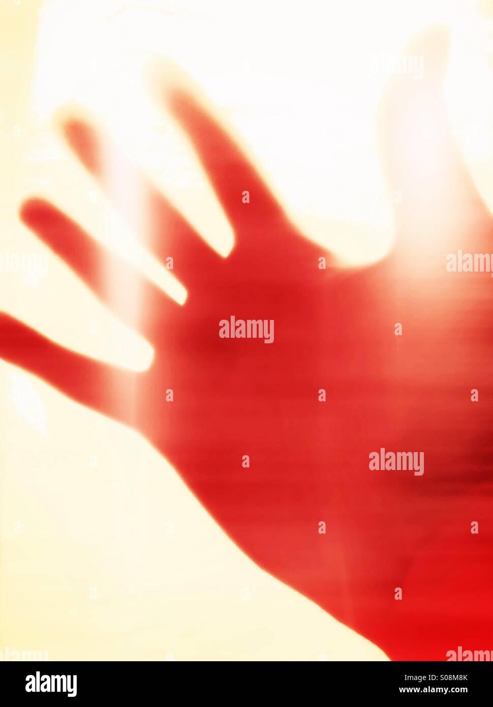 Hand, abstrakte Stockbild