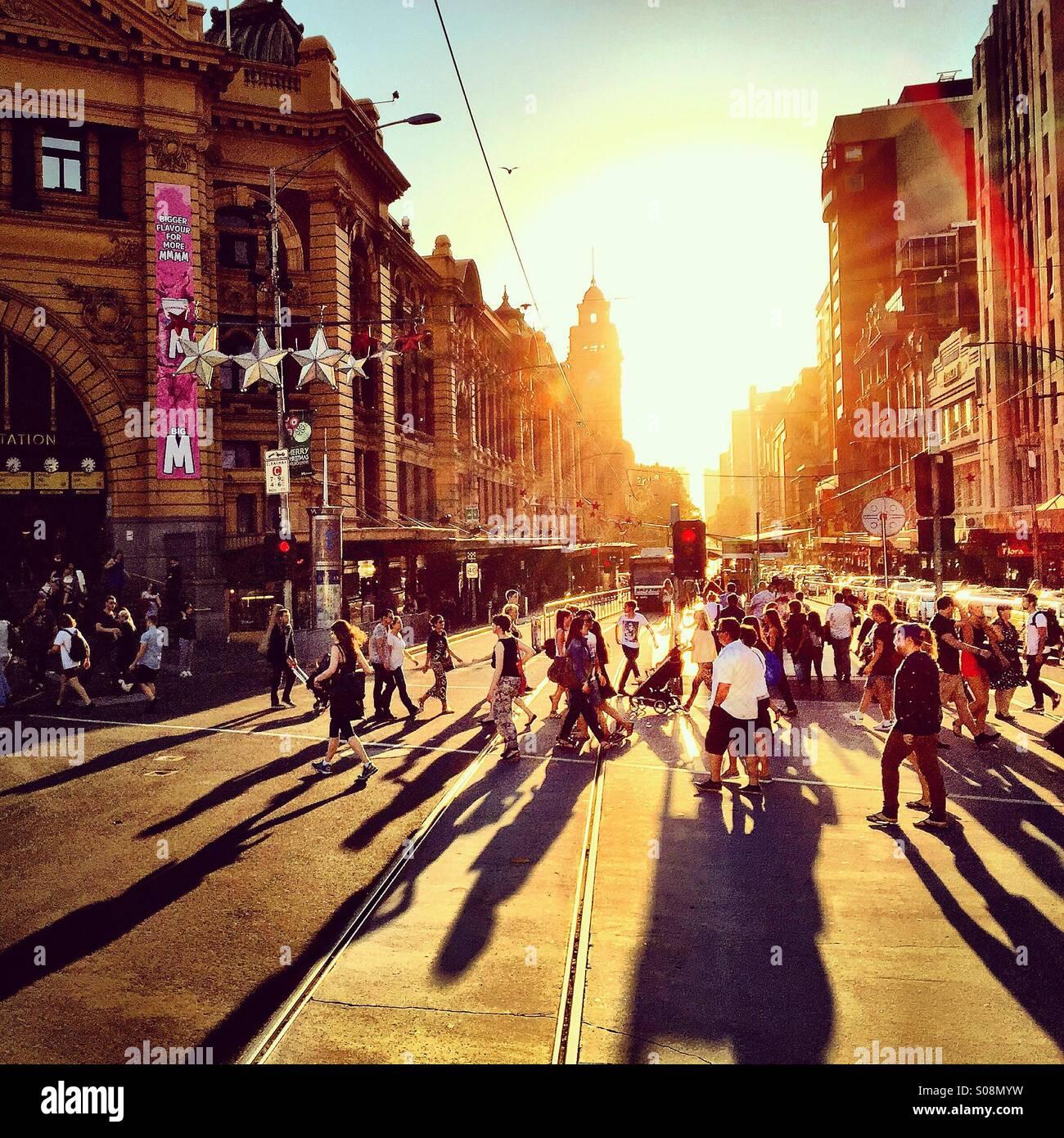 Sommer in Melbourne, Australien Stockbild