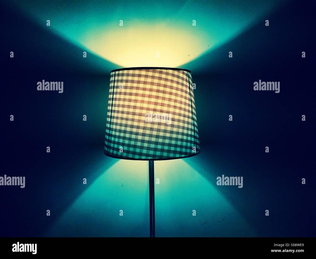 Schlafzimmer-Lampe Stockbild