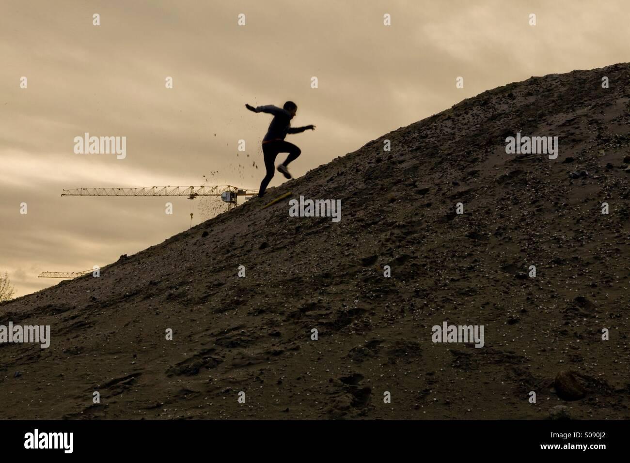 Laufende Mann Stockbild