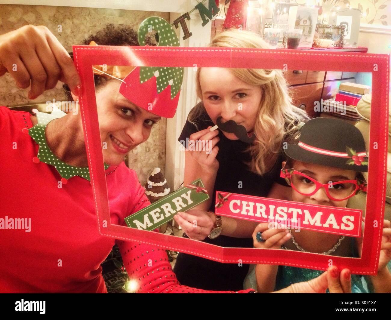 Frohe Weihnachten! Stockbild