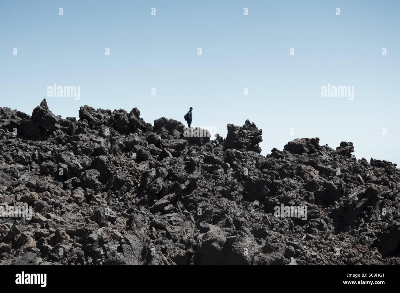 Einsame explorer Stockbild