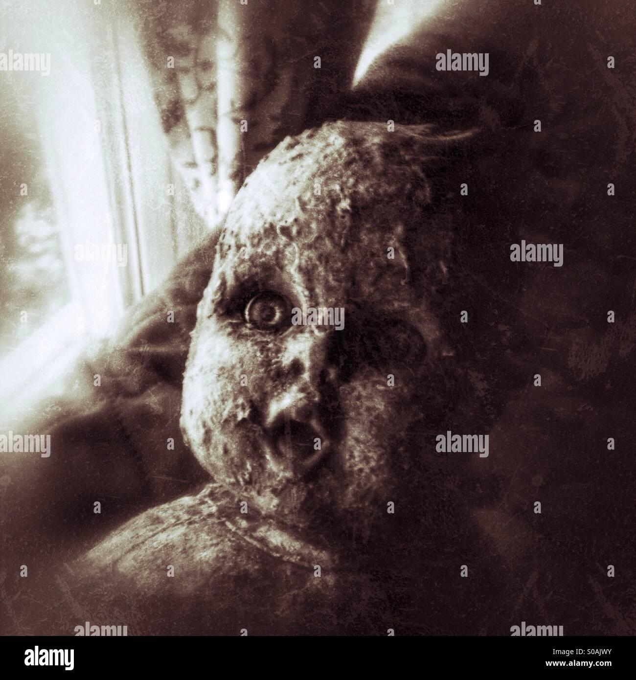 Scary Babypuppe Stockbild