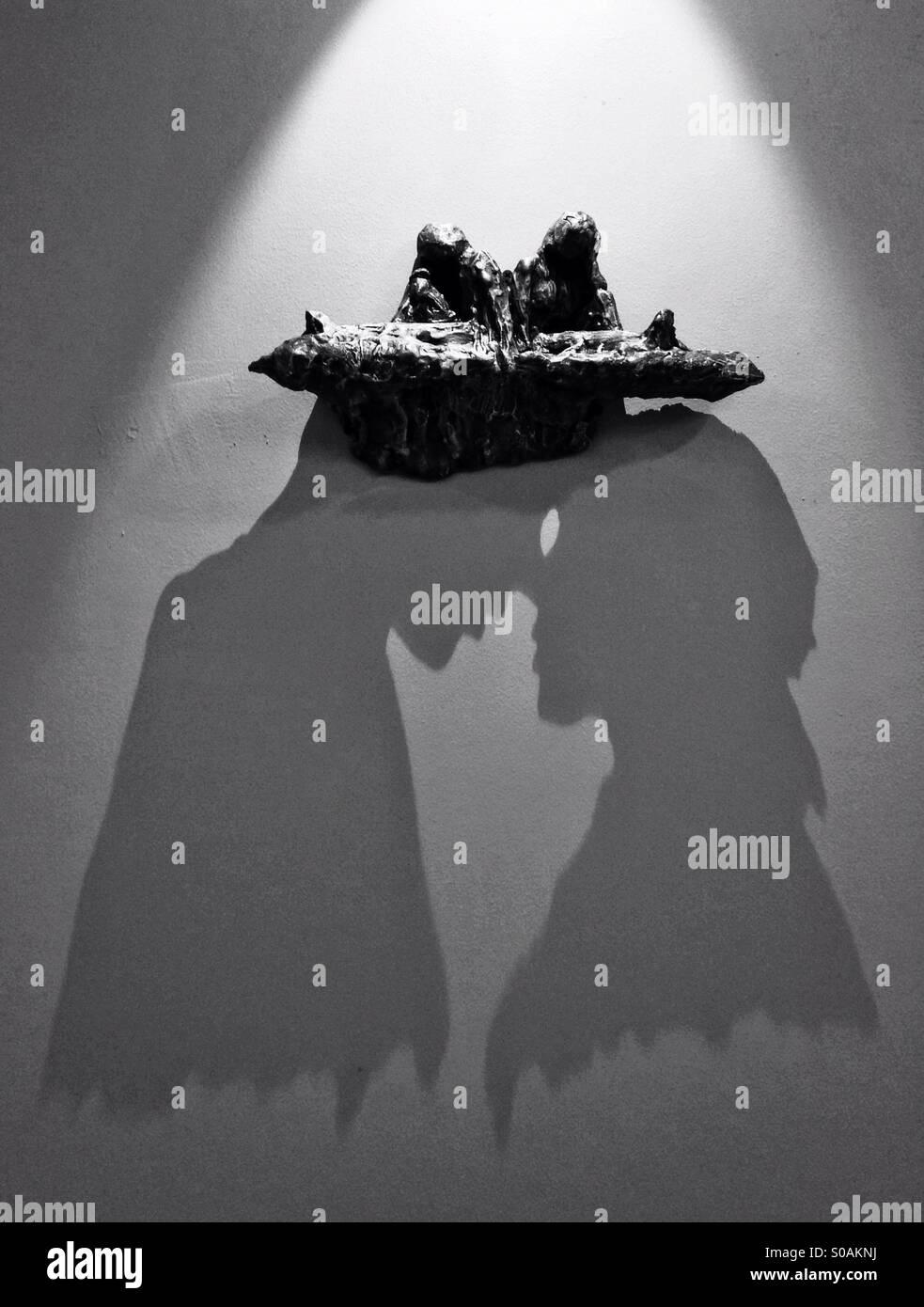 Schatten-Kunst Stockbild