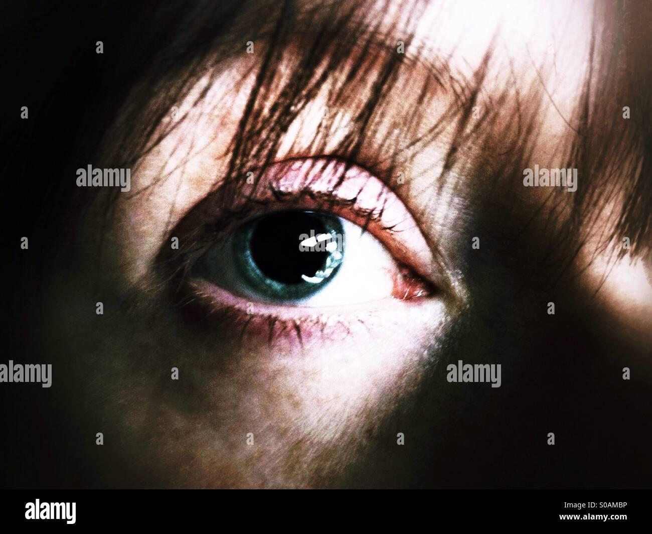 Unheimliche Auge Stockbild
