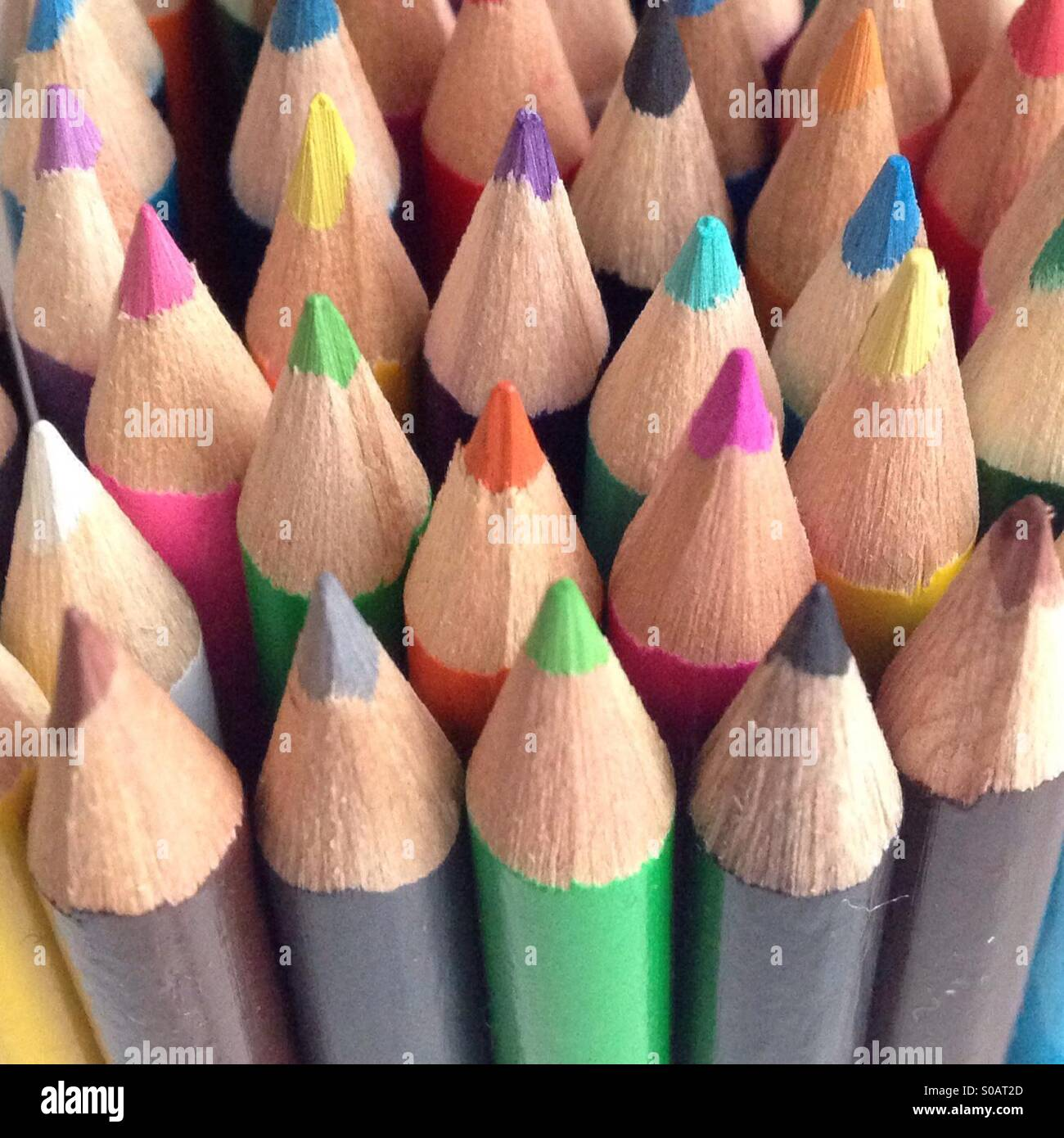 Alle Farben zusammen Stockbild