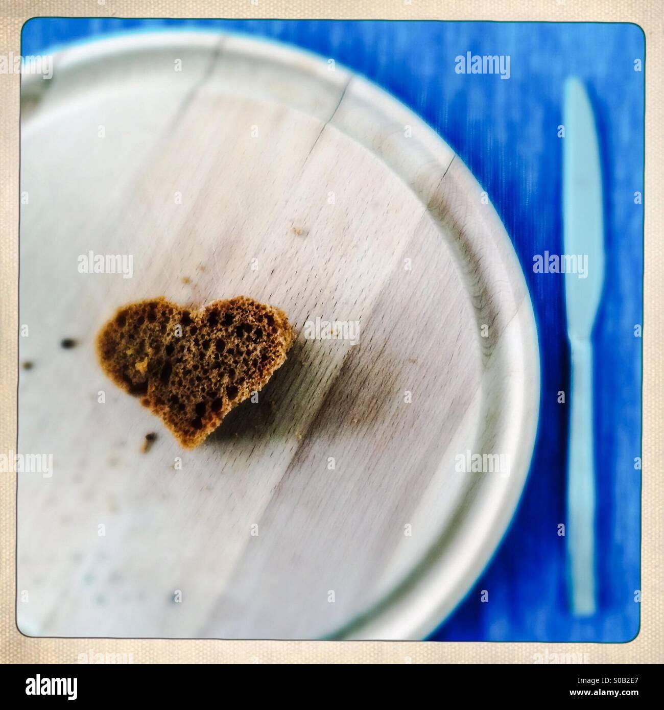 Süße Kuchen in Herzform Stockbild