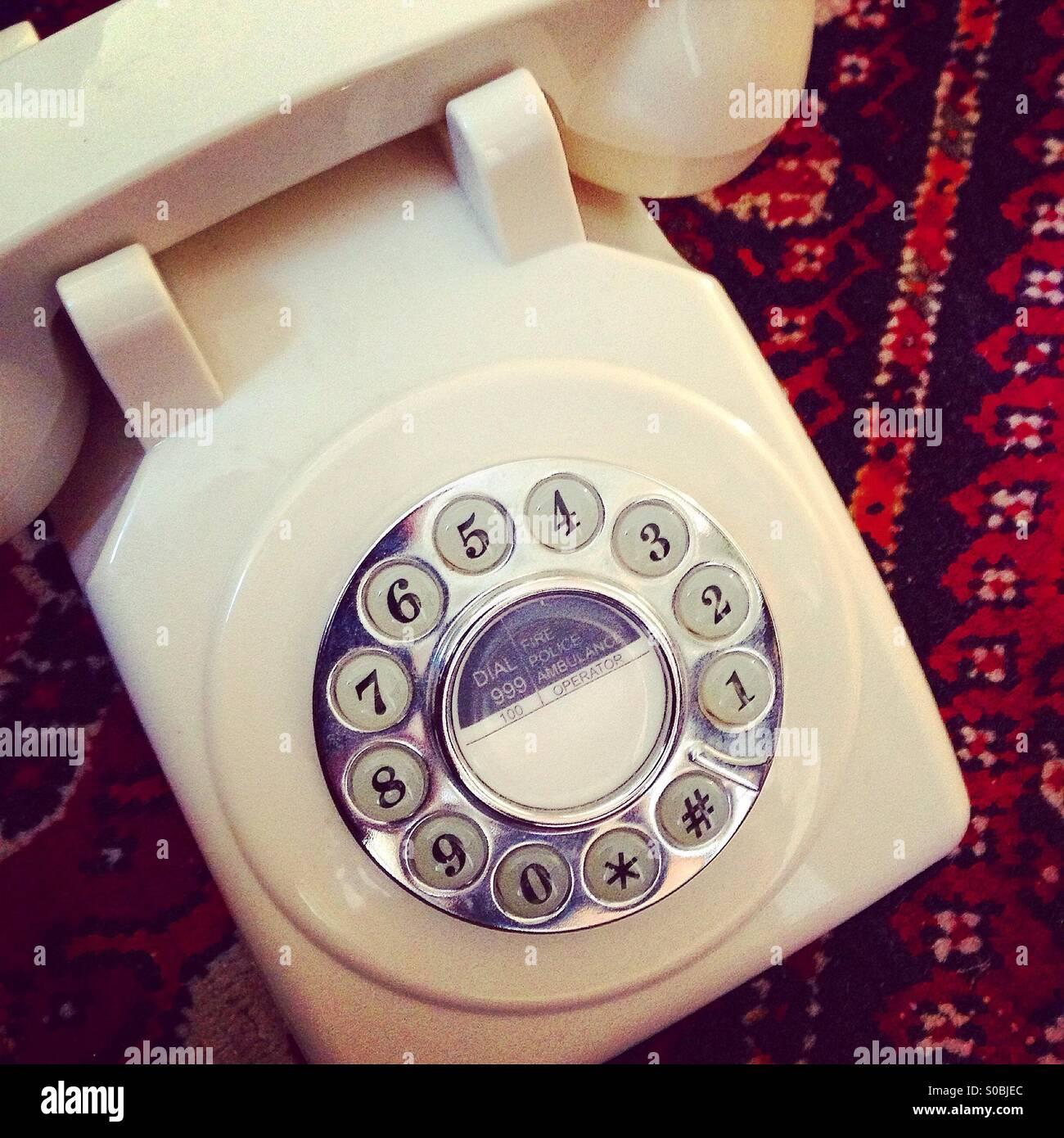 Vintage-Stil Telefon Stockbild