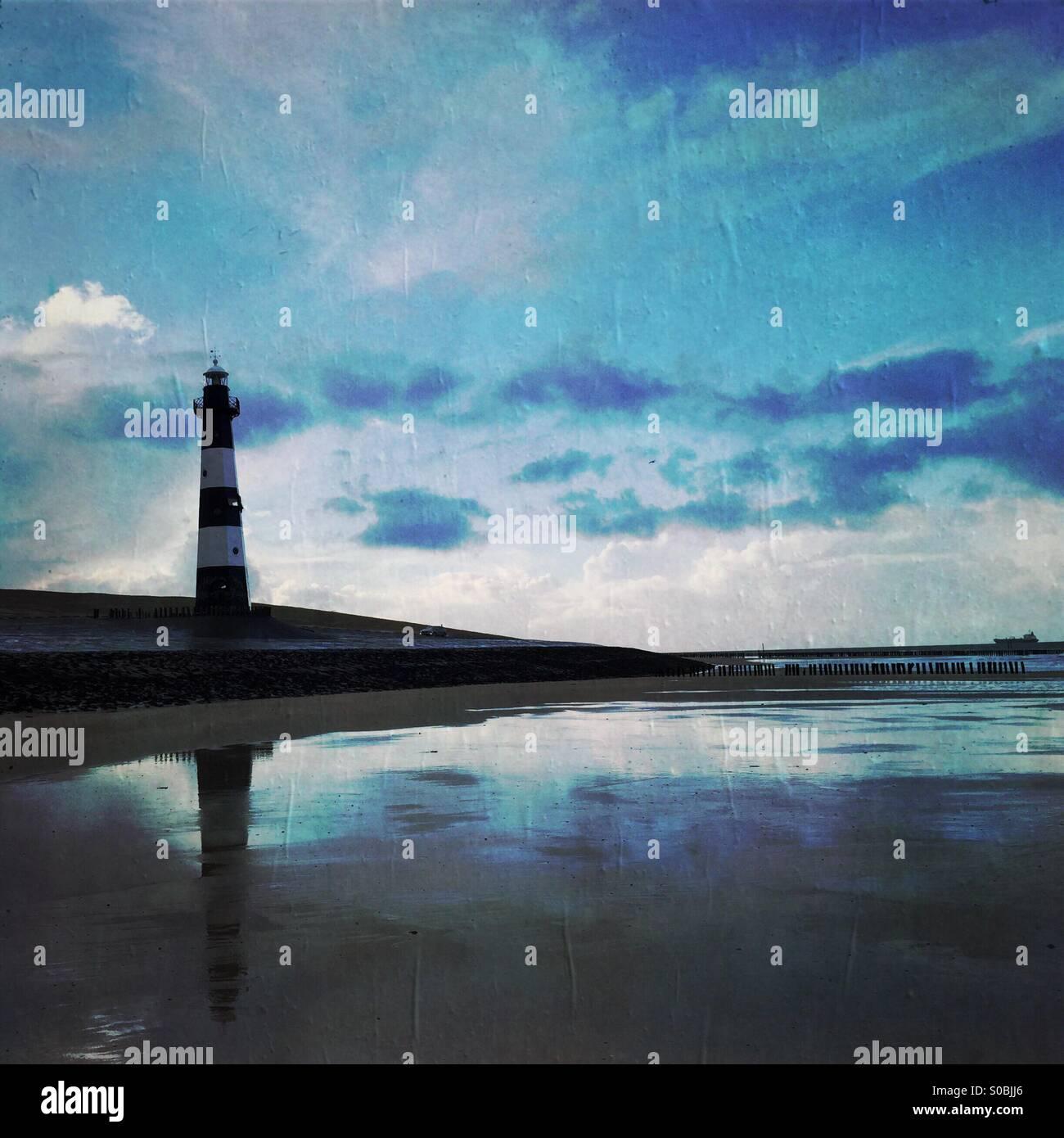 Der Leuchtturm in Breskens Stockfoto