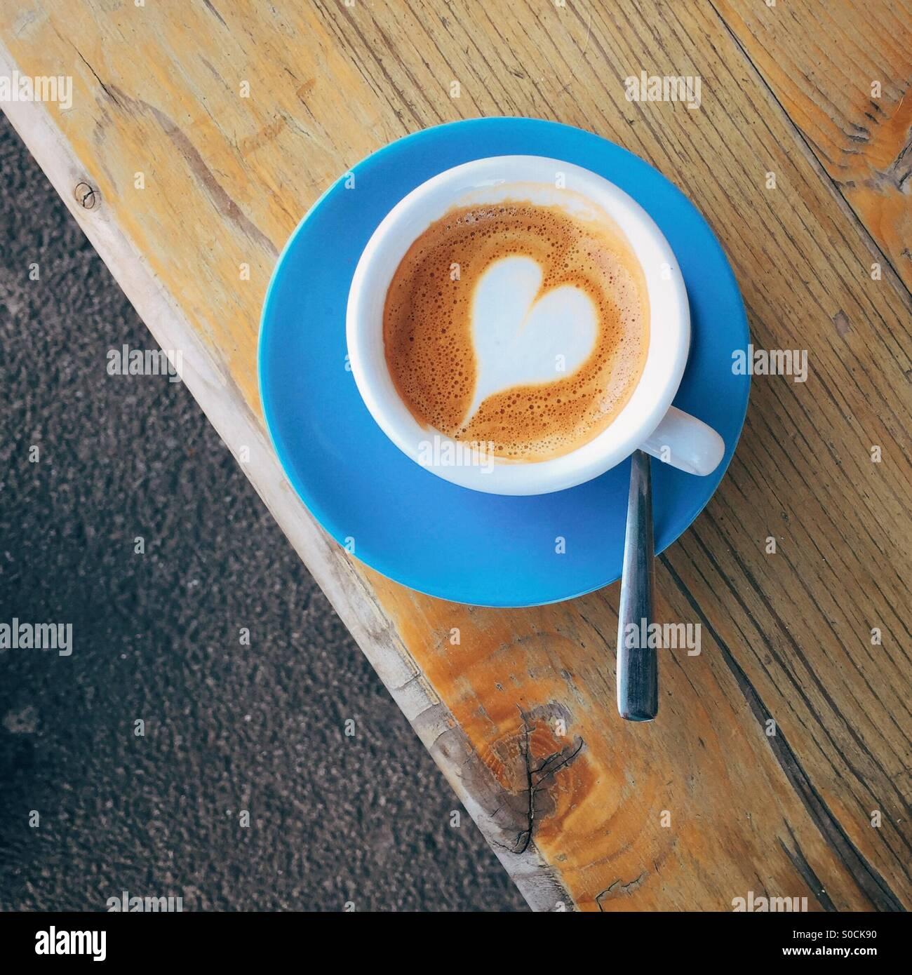 Liebe Kaffee Stockbild