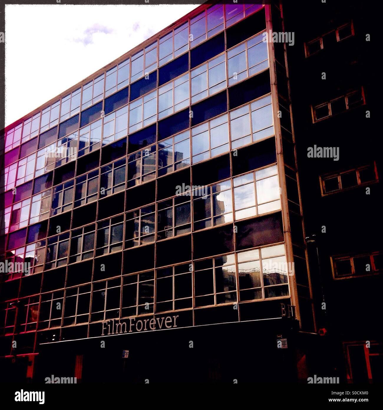 BFI-Büros auf Stephen Street, London Stockbild