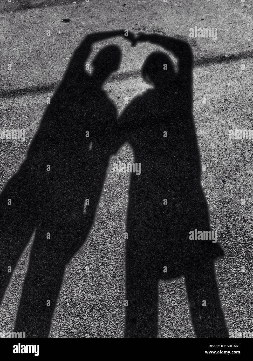 Schatten der Liebe Stockbild