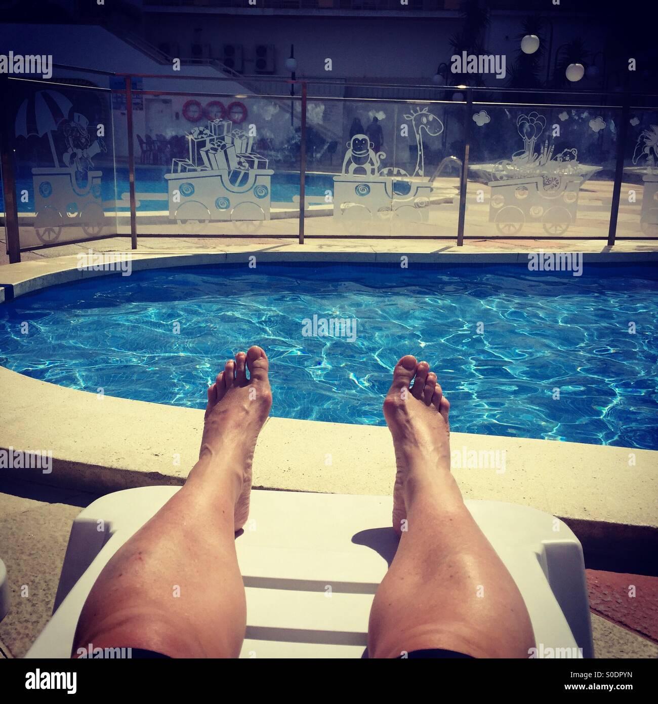 Sonnenbaden Stockbild