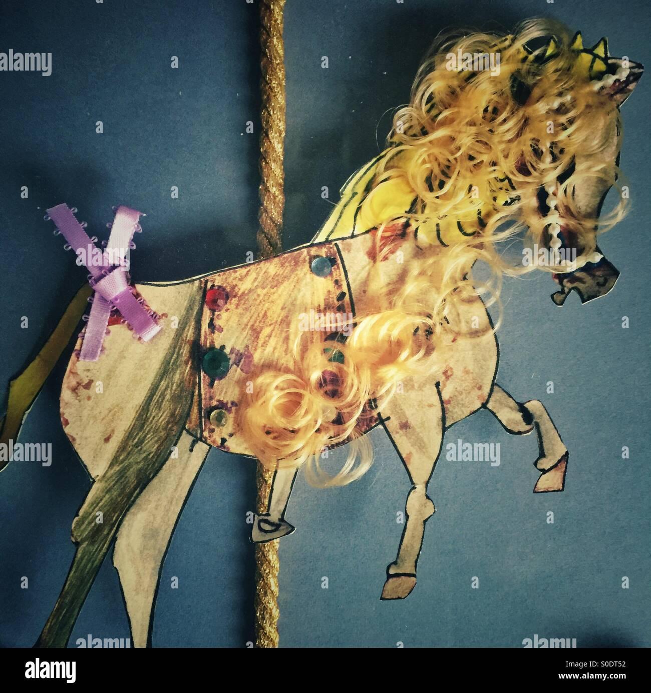 Papier-Pferd Stockbild