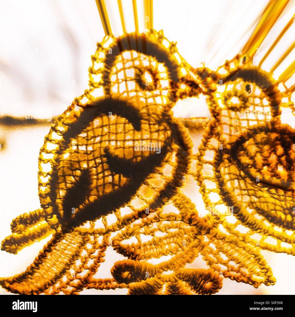 Liebe Vögel Stockbild