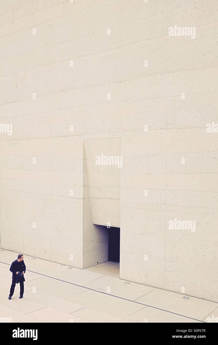Eingang - The Museum ägyptischer Kunst in München - vom Architekten Peter Bohm Stockbild