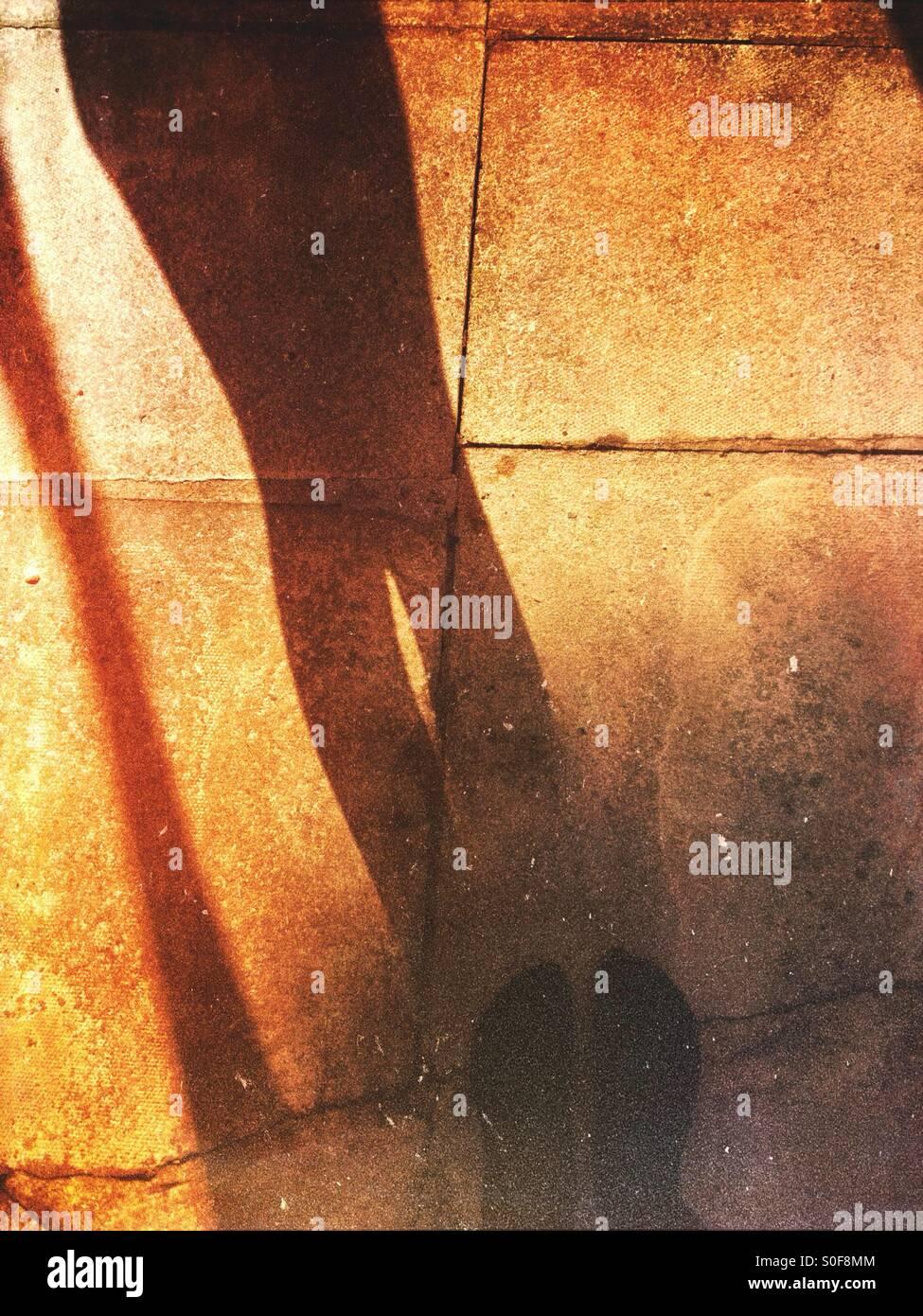 Schatten einer Person Stockbild