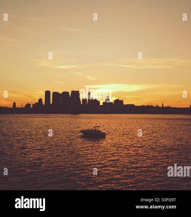 Philadelphia-Sonnenuntergang Stockfoto