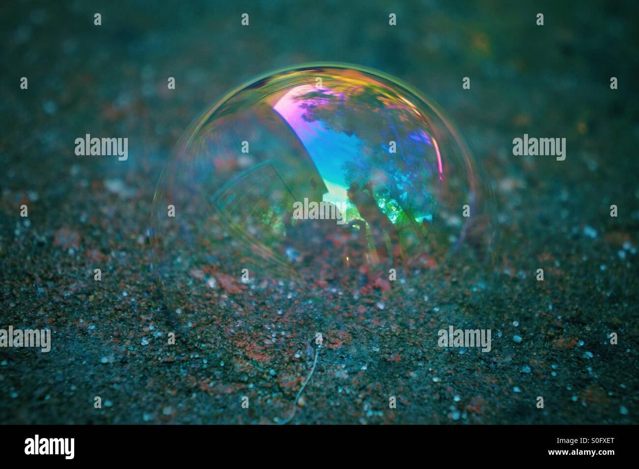 Bubble-Spaß Stockfoto