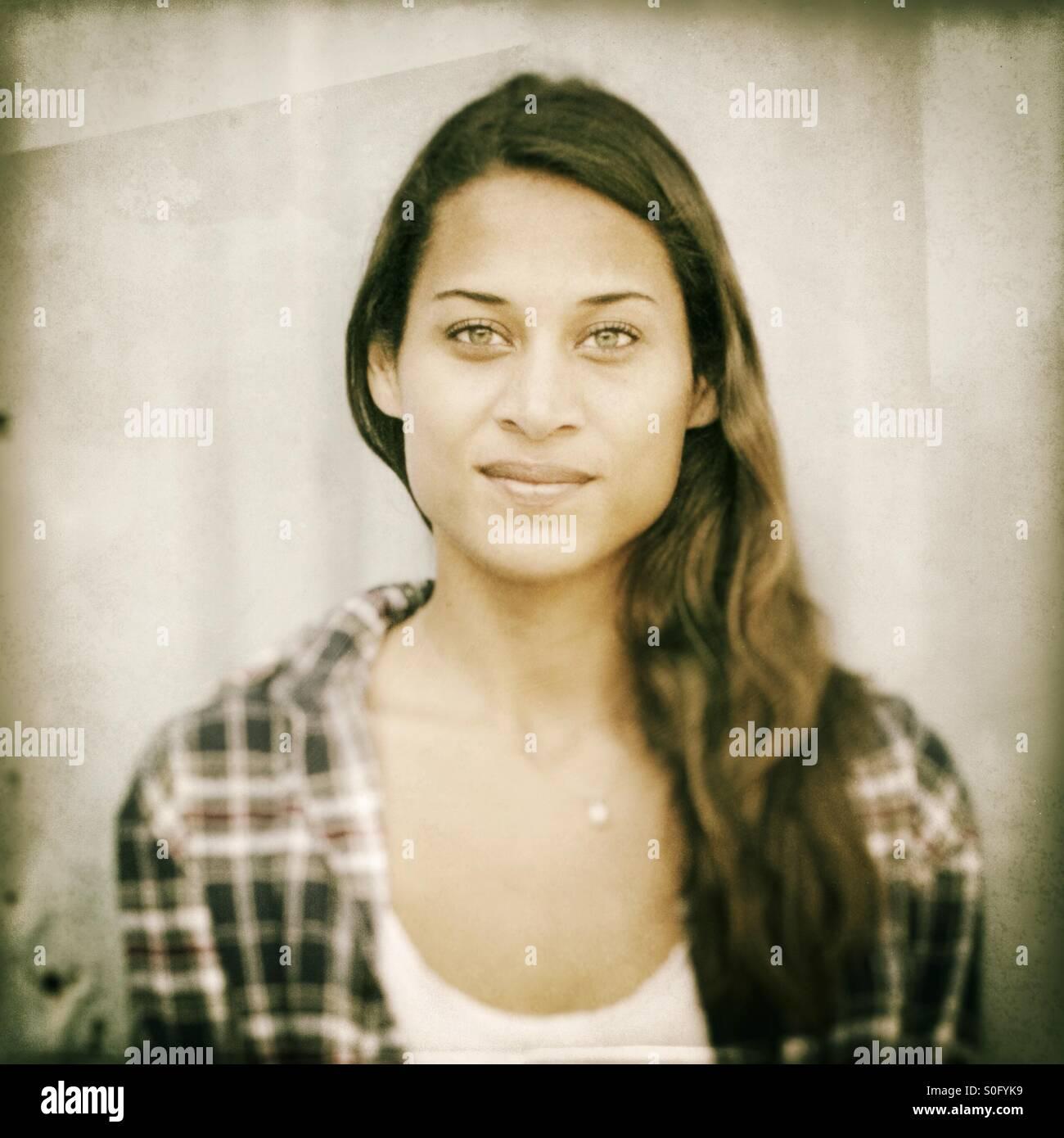 Porträt einer schönen Frau. Stockbild