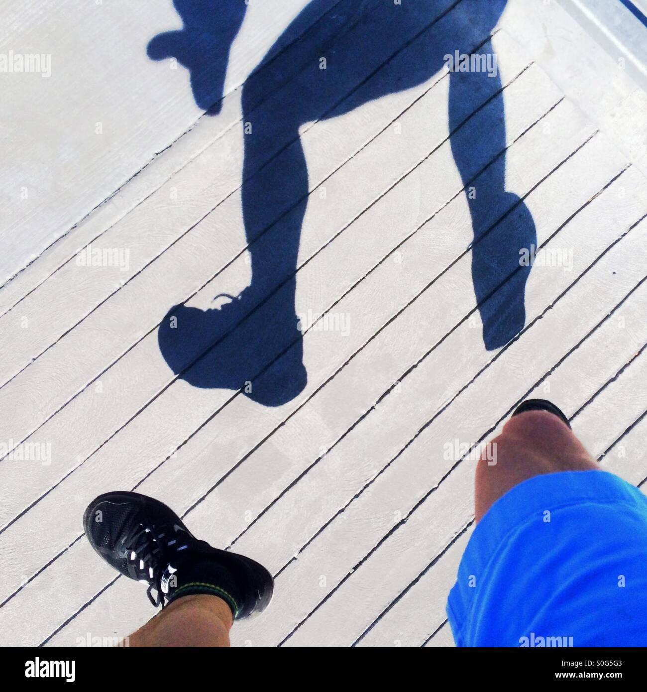 Springenden Mann Stockbild