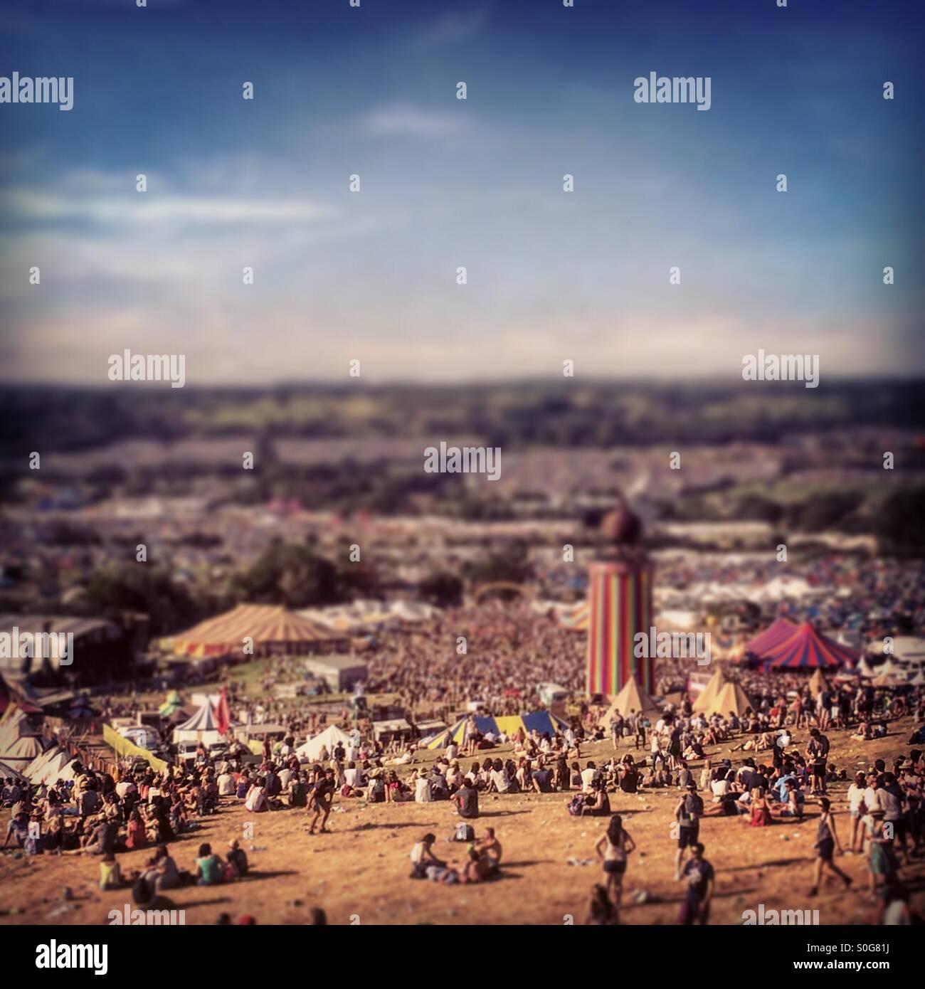 Die Parkanlage von Glastonbury Stockbild