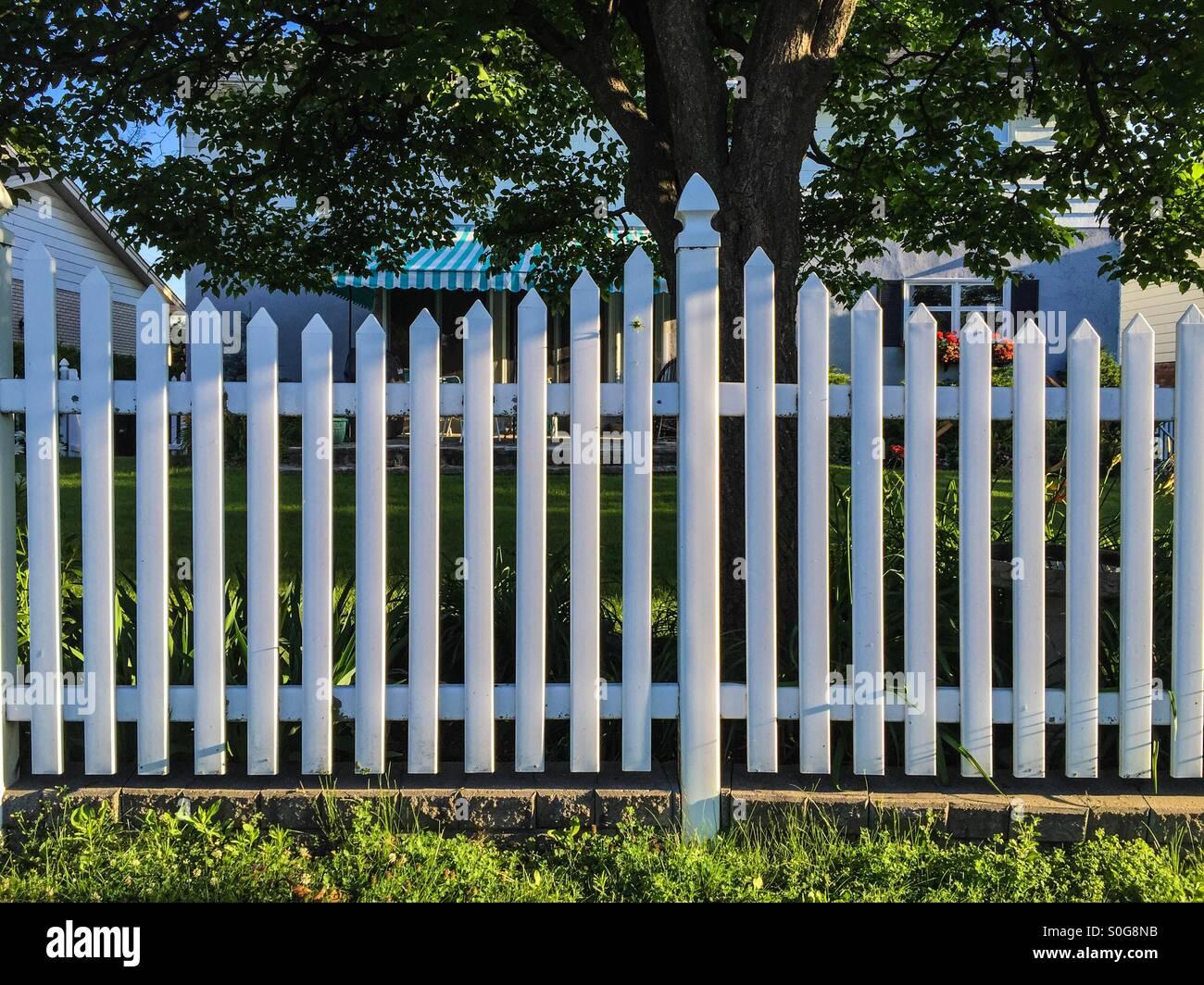 Backyard Fence Grass Stockfotos & Backyard Fence Grass Bilder Alamy
