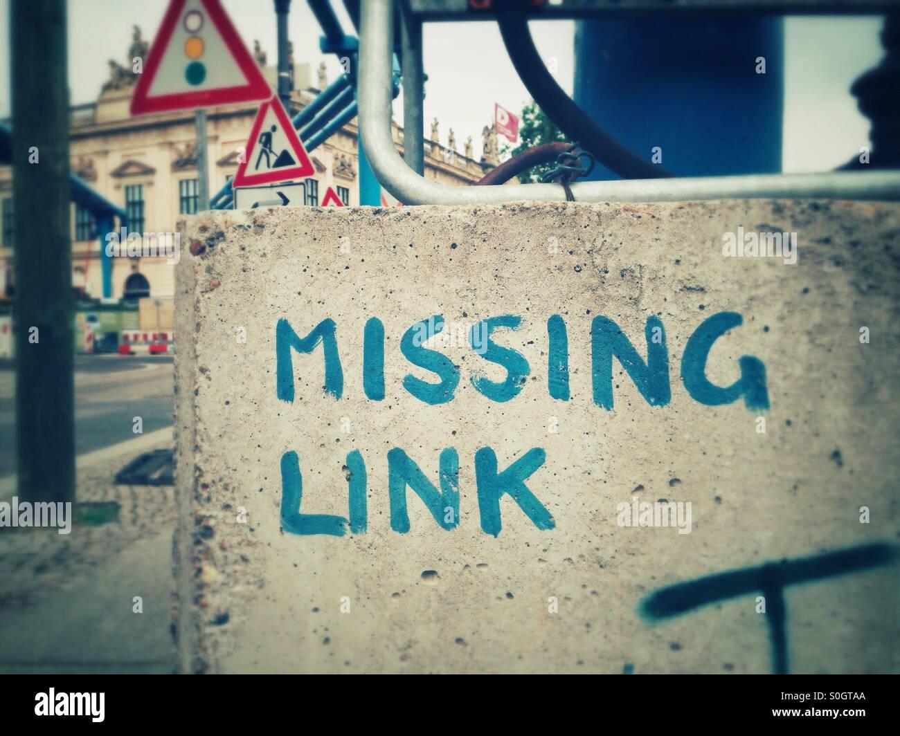 Missing link Stockbild