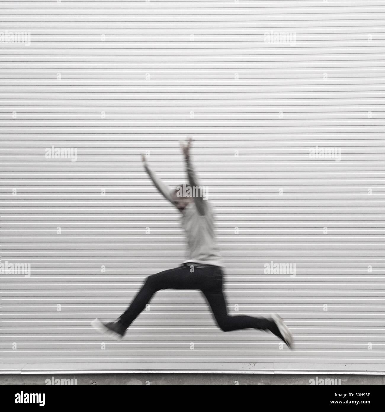 Neuer Weltrekord Stockbild