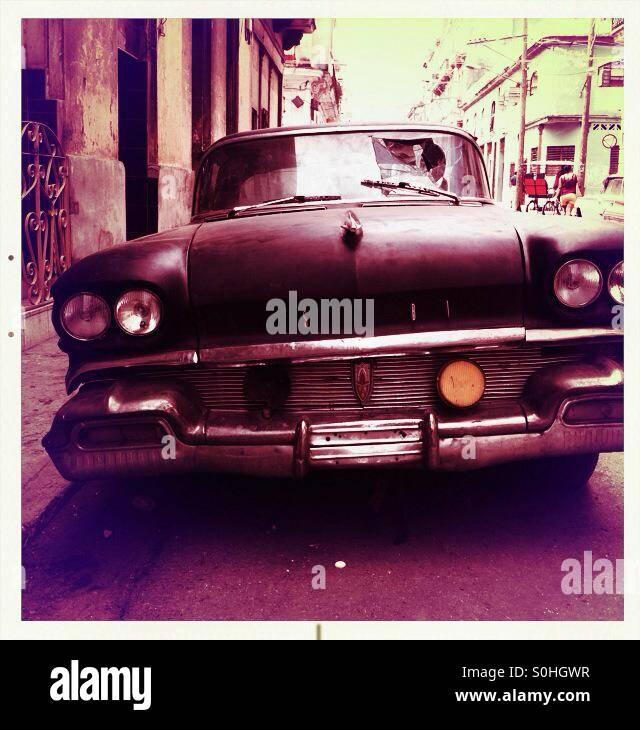 Altes Auto Havanna Kuba Stockbild