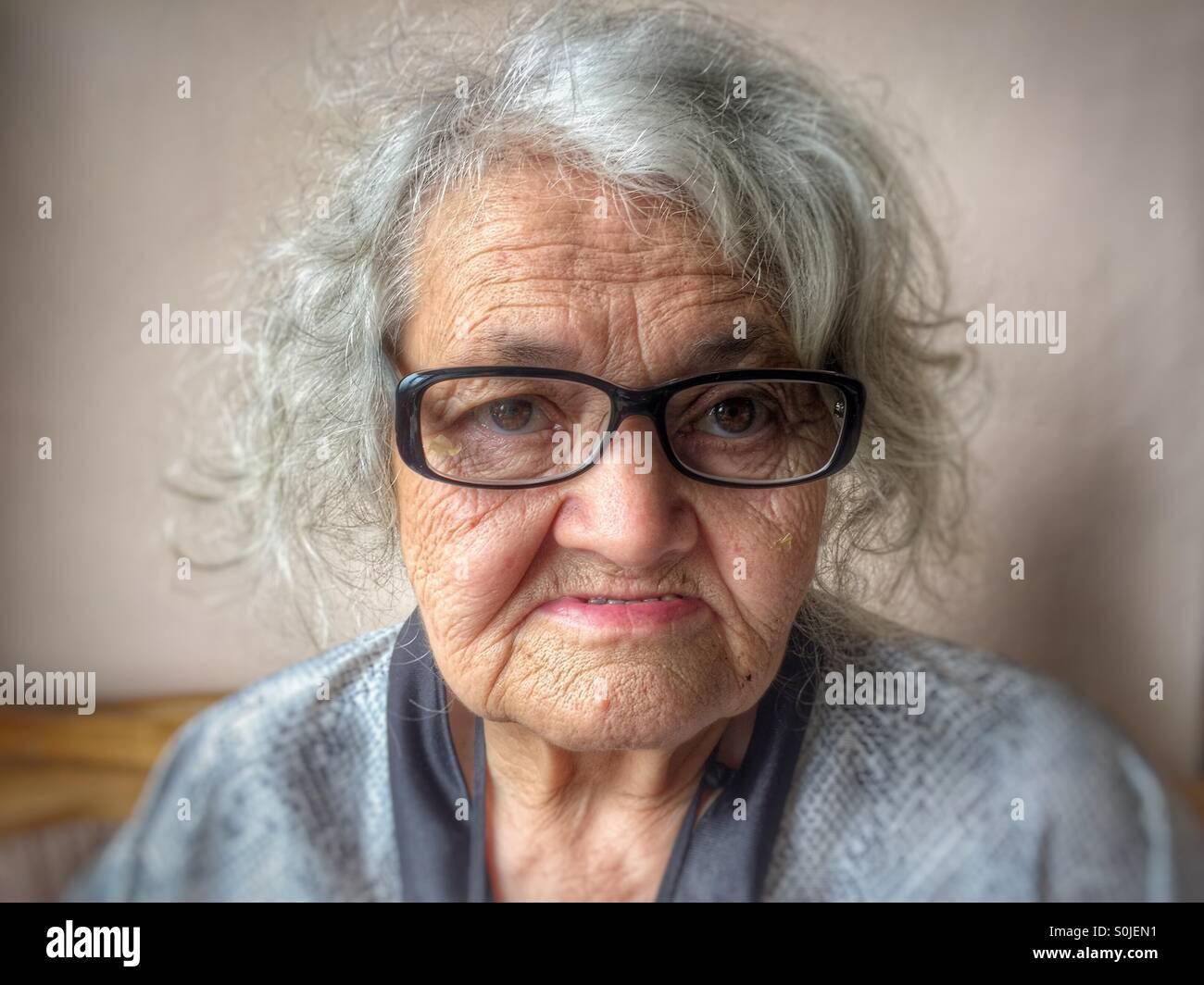 Ältere Frau Porträt Stockfoto
