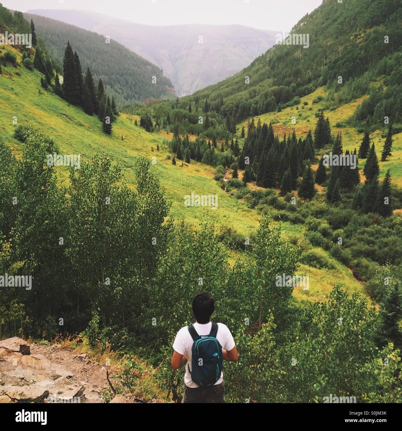 Bergtour Stockbild