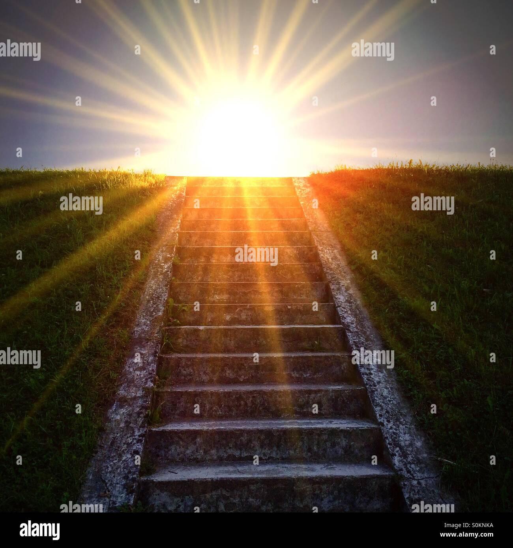 Treppe zum Licht Stockbild