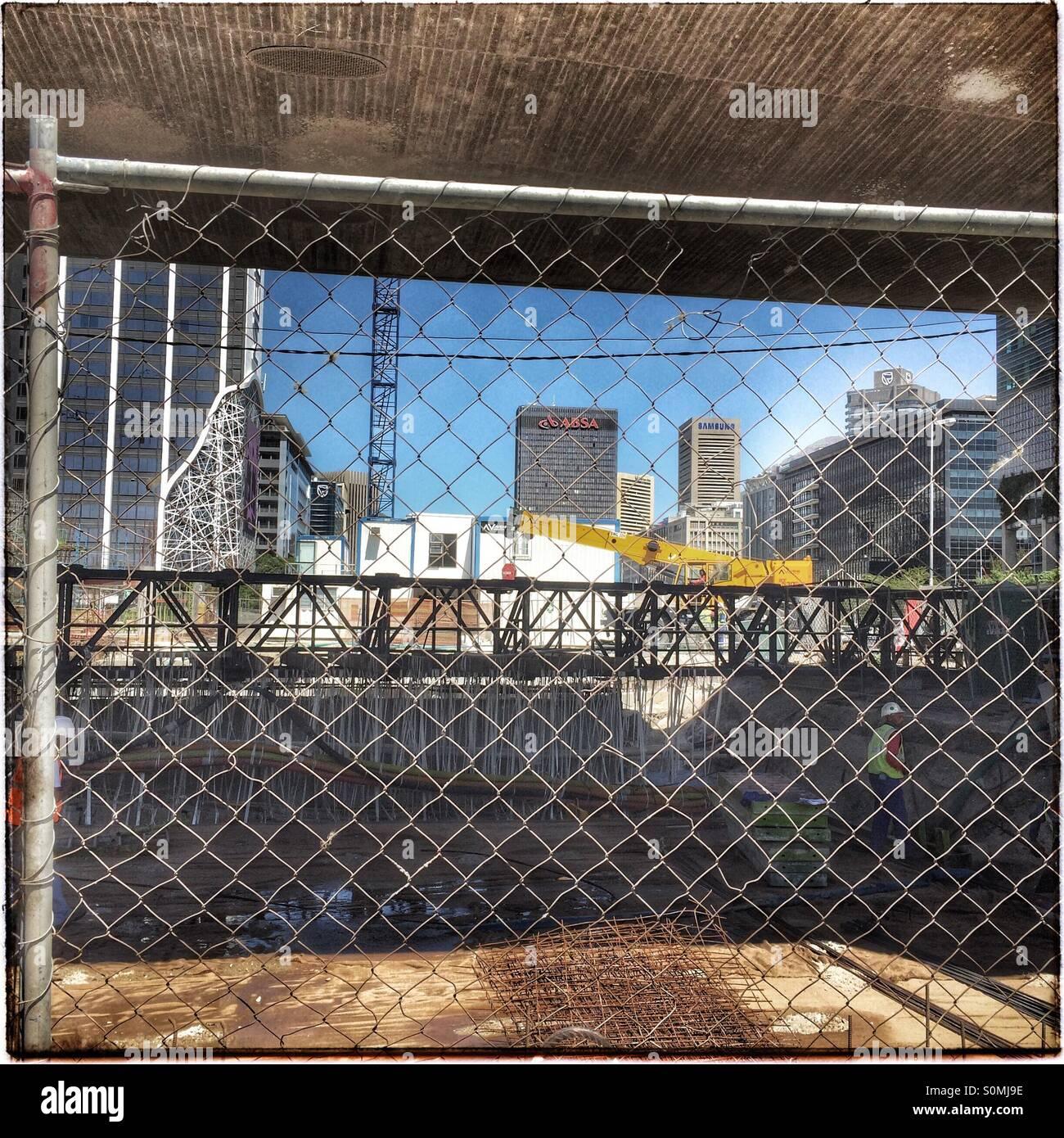 Baustelle Kapstadt. Stockbild