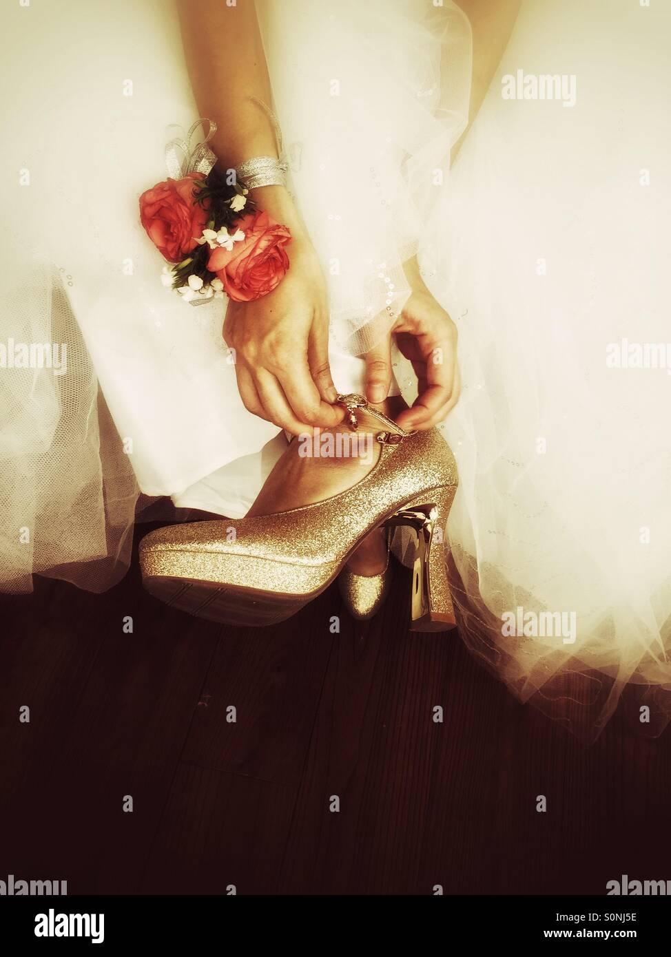Braut Schuhe Stockbild