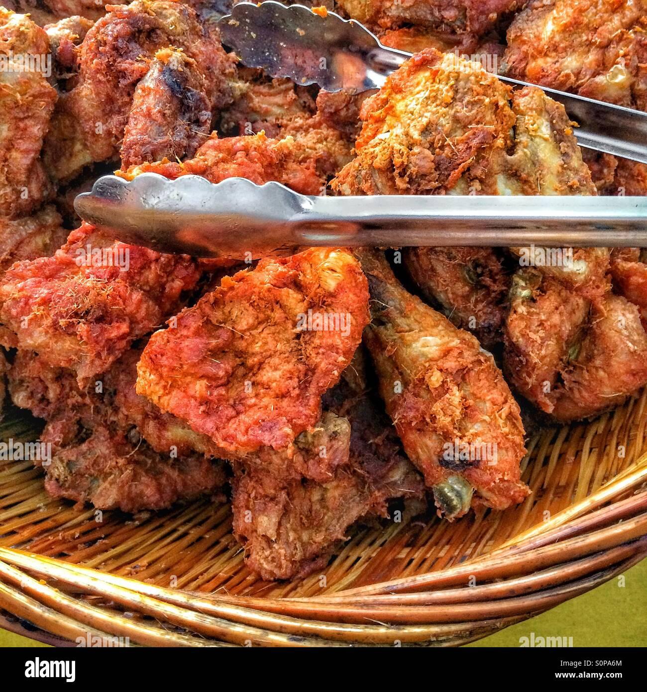 Fried chicken Stockbild