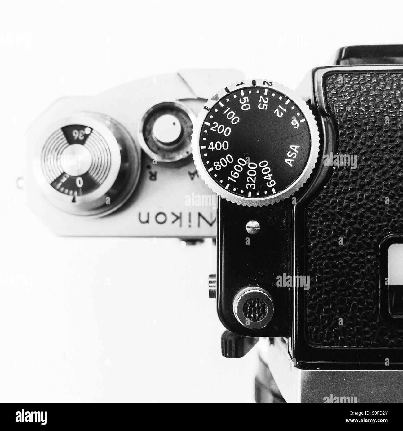 Classic 35mm Nikon Film Camera Stockfotos Classic 35mm Nikon Film