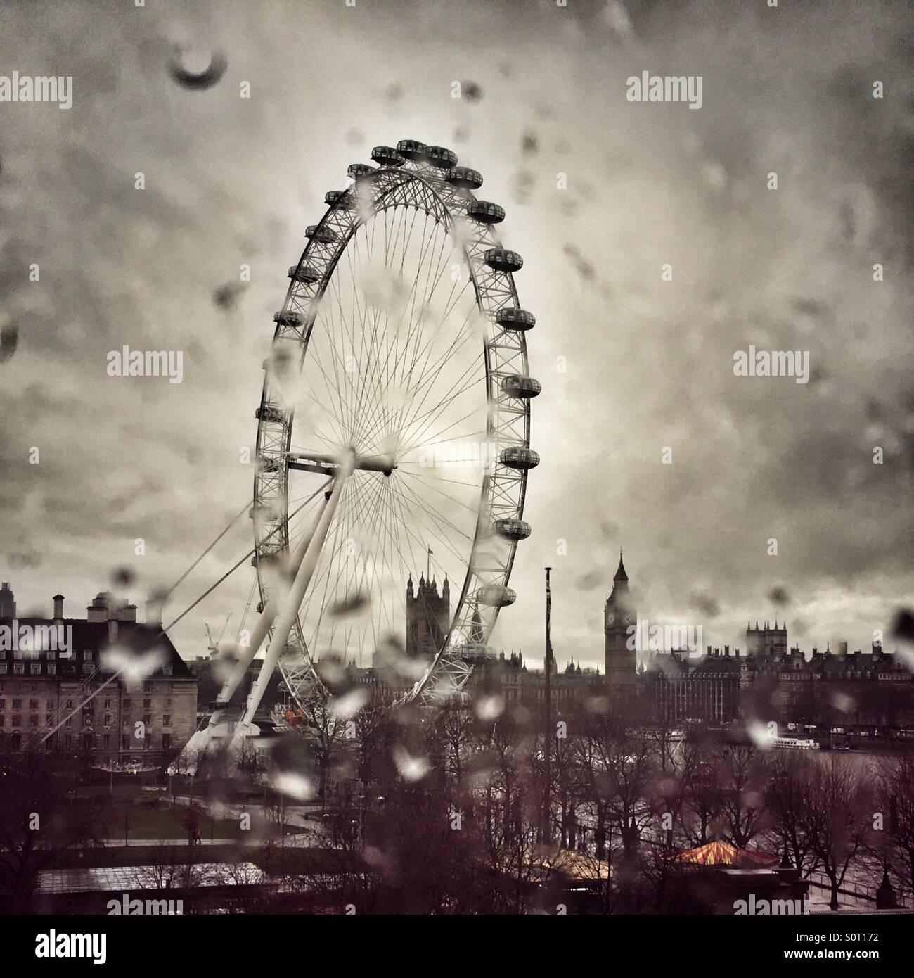 Januar in London Stockbild
