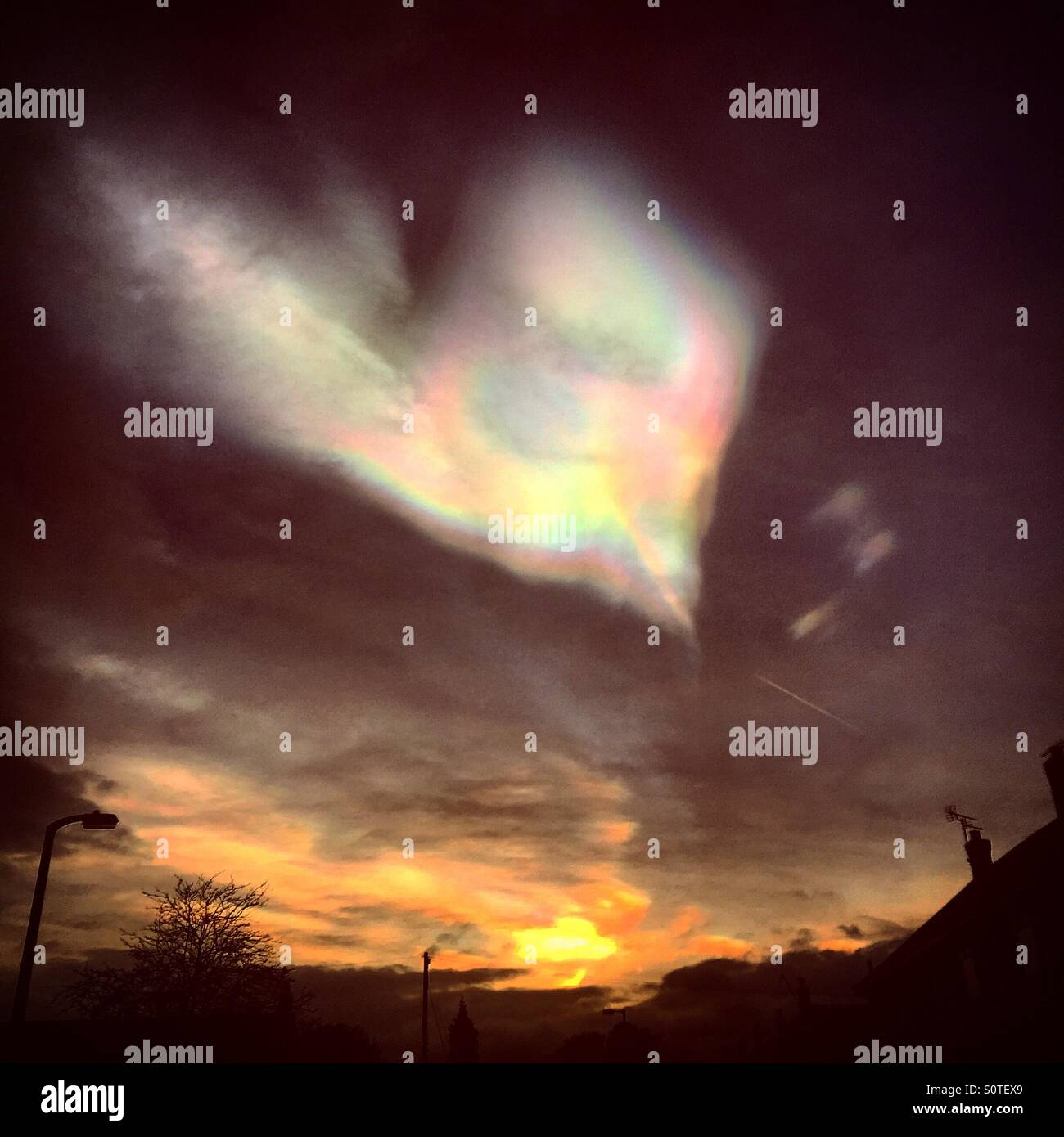 Liebe war in den Himmel Stockbild