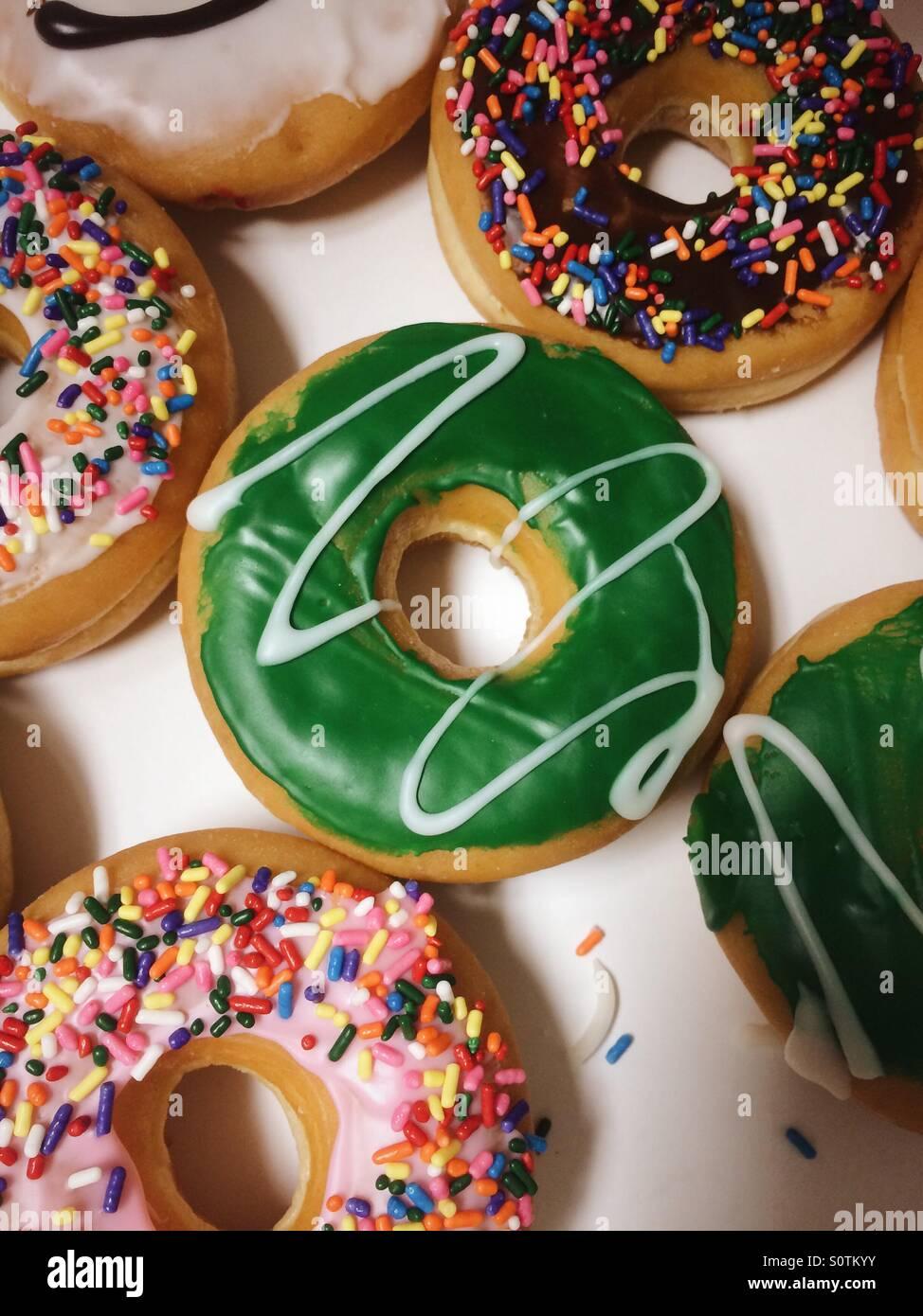 Donuts für Abendessen Stockbild