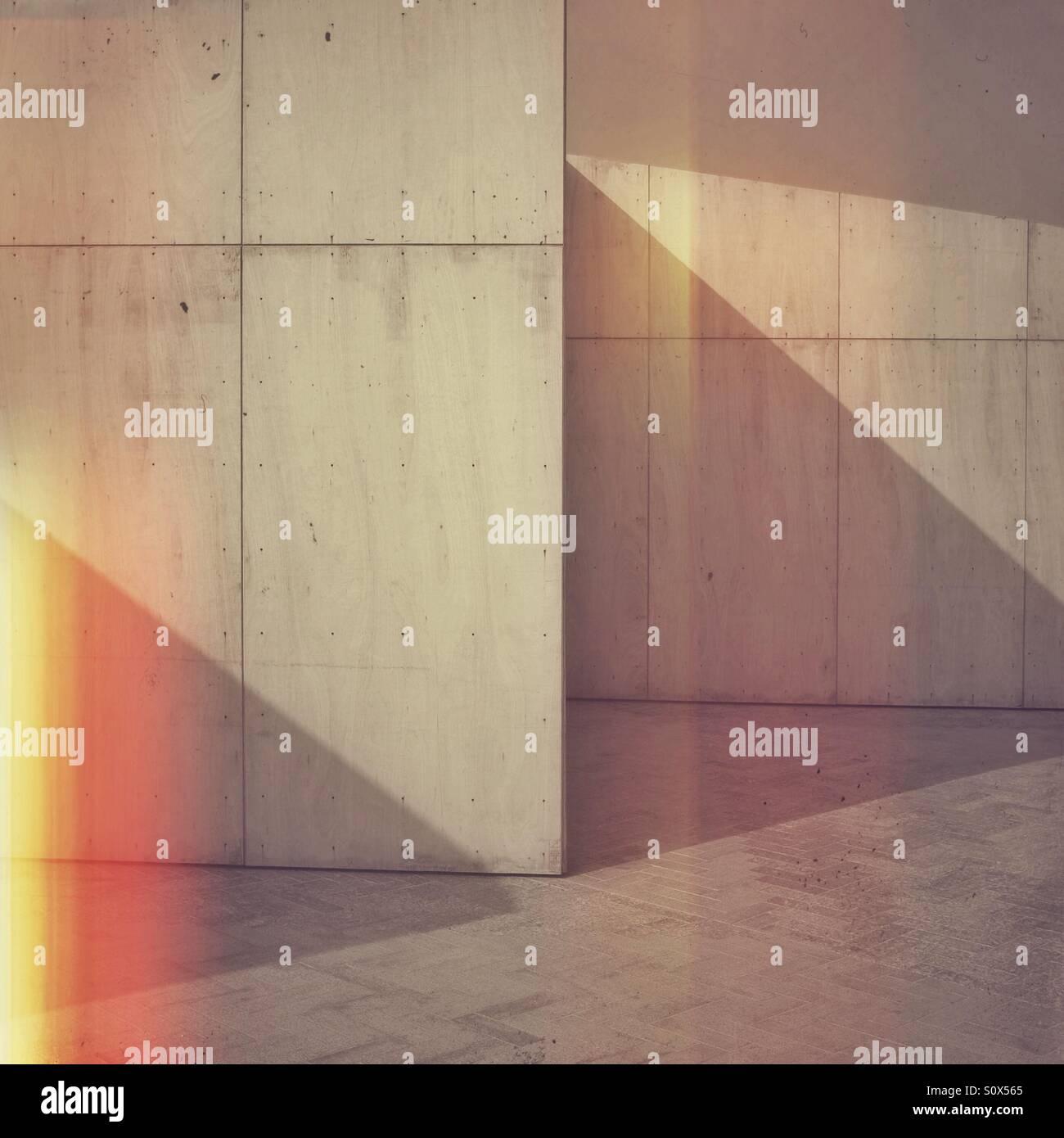 Abstrakte geometrische Schatten und Licht Stockbild