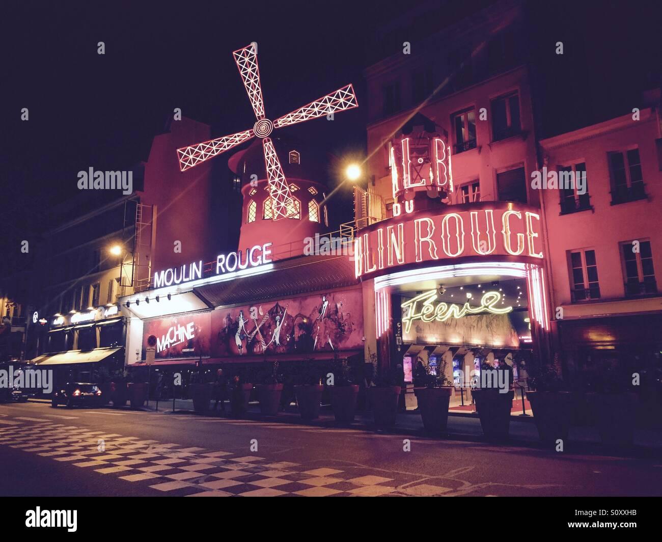 Moulin Rouge Stockbild