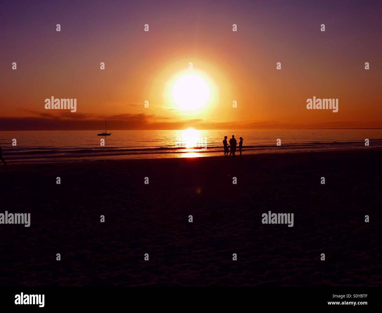 Sonnenuntergang über Fort Myers Beach in Florida Stockfoto