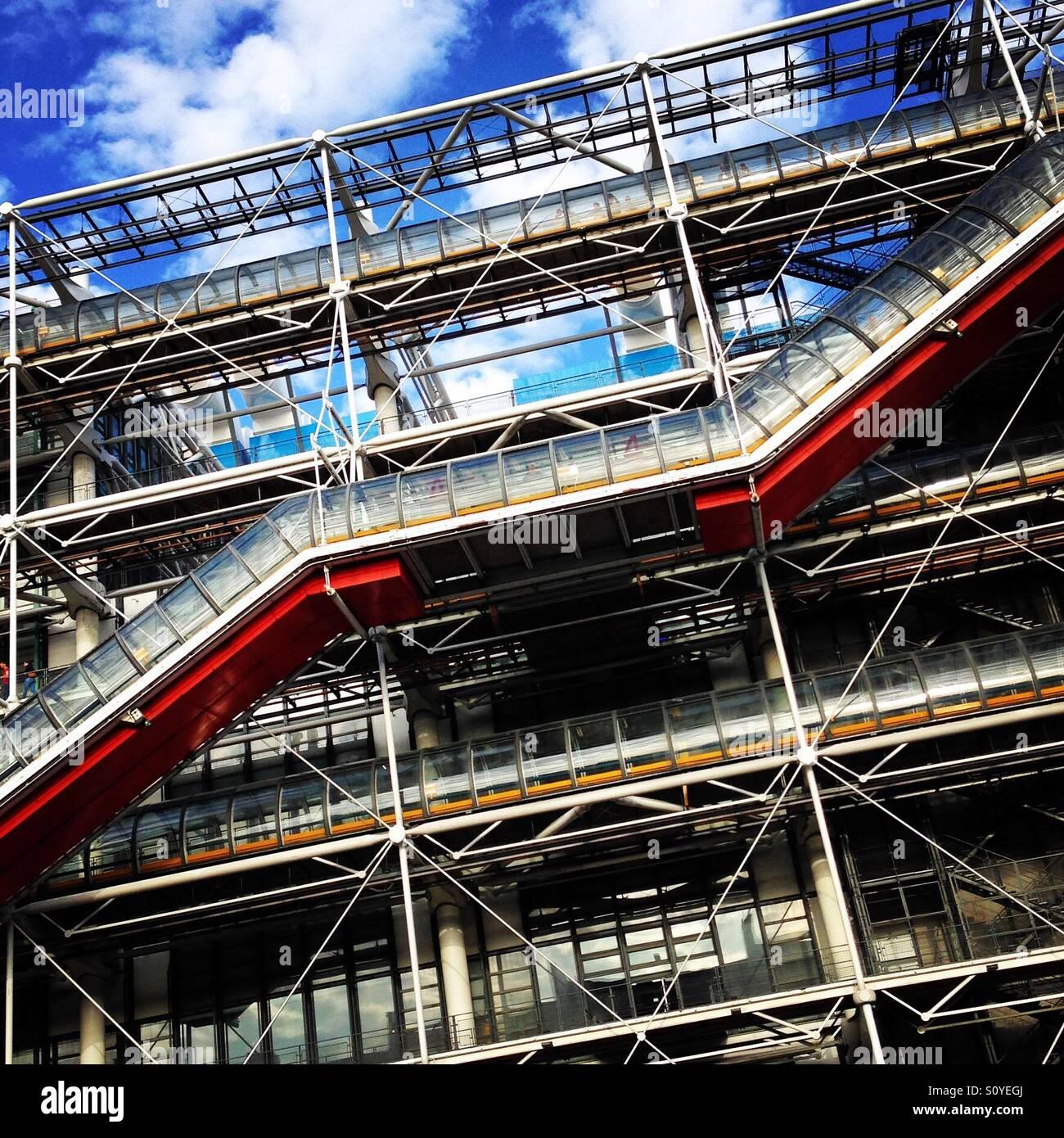Die Pompidou-Zentrum-Struktur Stockbild