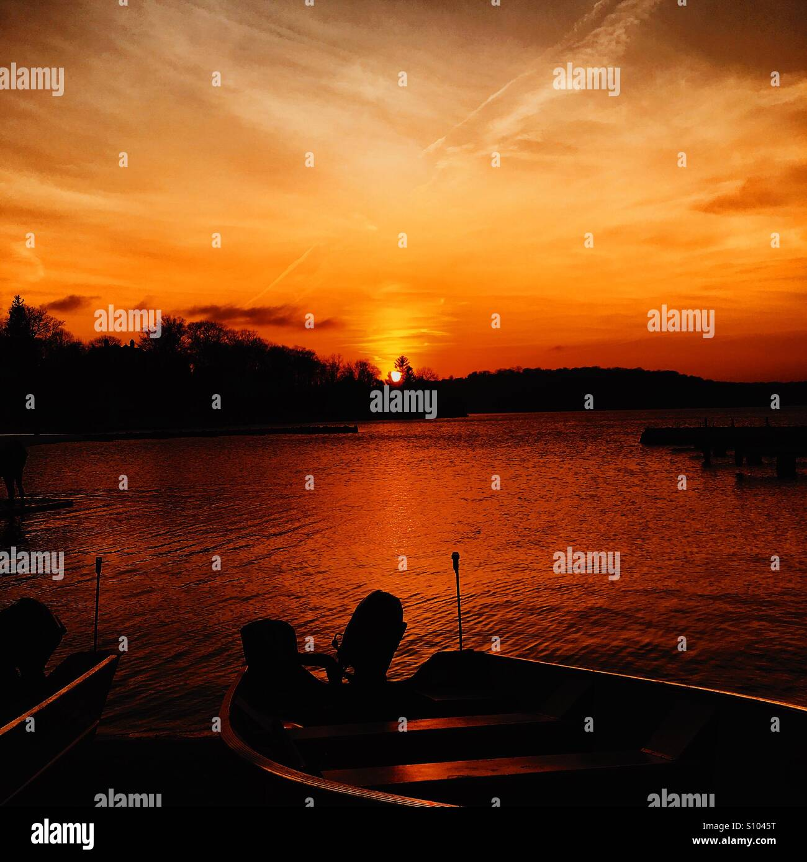 Orange Lake Stockbild